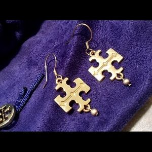 HOST PICK Tory Burch Gold-Tone Logo Earrings